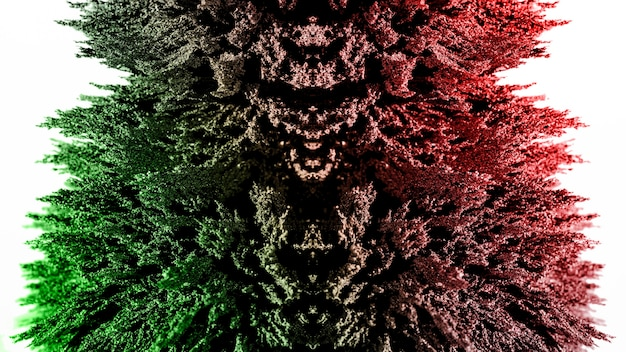 Podświetlany zielony i czerwony magnetyczny golenie metalu na białym tle