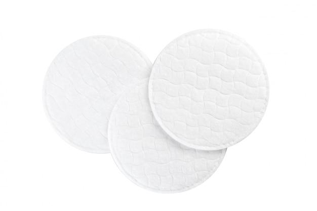 Poduszki bawełniane na białym tle