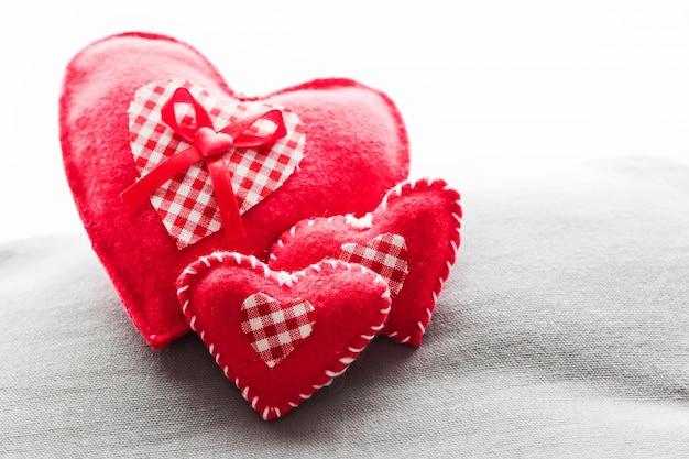 Poduszki w kształcie serca
