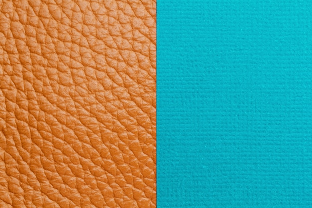 Podwójne tło z kolorowym papierem i teksturowaną skórą