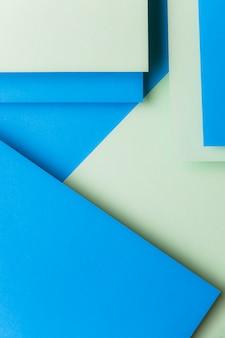 Podwójny kolor papieru geometryczne płaskie tło lay