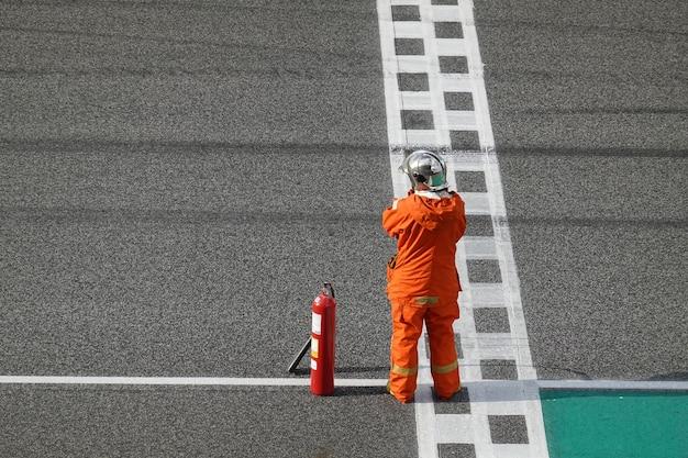 Pogotowie ratunkowe przy torze wyścigowym