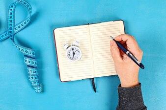 Pojęcie zdrowego stylu życia z notatnika