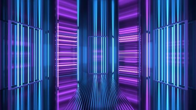 Pojawia się i znika fioletowo-niebieskie tło neonowe