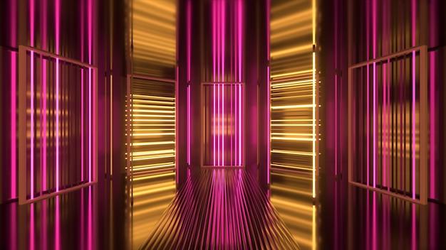 Pojawia się i znika fioletowo-żółte tło neonowe