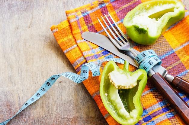 Pojęcie diety ze świeżego pieprzu