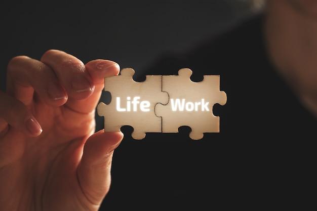 Pojęcie harmonii i szczęścia między pracą a życiem.