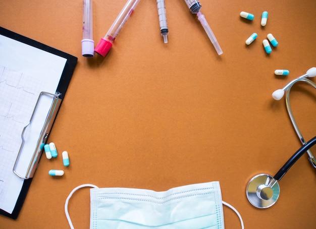 Pojęcie opieki zdrowotnej, widok z góry