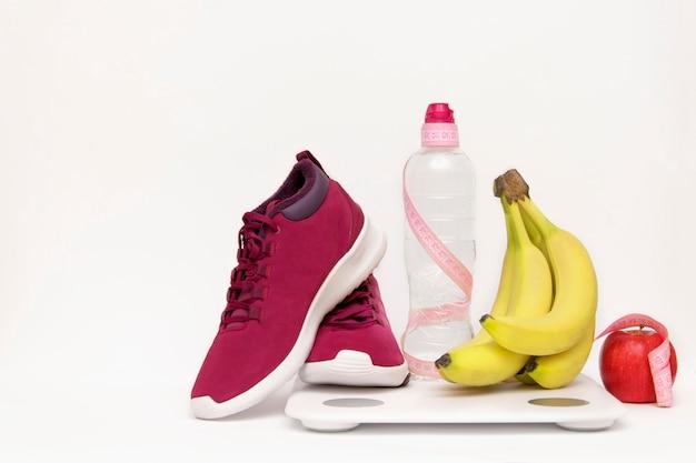 Pojęcie sportu, trening, utrata masy ciała. copyspace