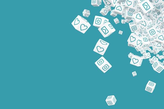 Pojęcie sztuka na temacie ogólnospołeczna networking 3d ilustracja