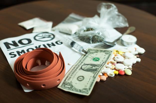 Pojęcie uzależnienia od narkotyków.