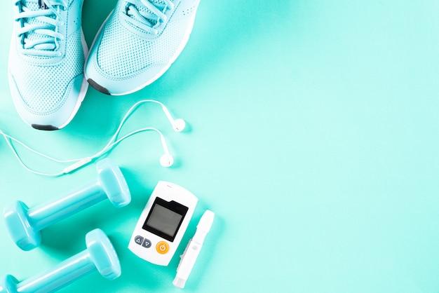 Pojęcie zdrowego stylu życia, jedzenia i sportu