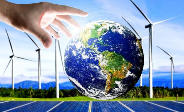 Pojęcie zrównoważonego rozwoju dzięki energii alternatywnej.