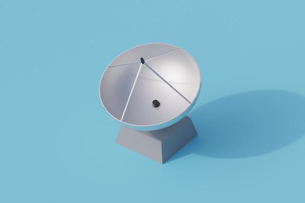 Pojedynczy izolowany obiekt radarowy. 3d render ilustracji izometryczny