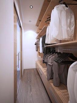 Pojemna garderoba w nowoczesnym stylu
