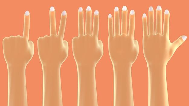 Pokaż numer palcem znak dłoni