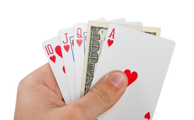 Poker królewski ze 100 $ w ręku