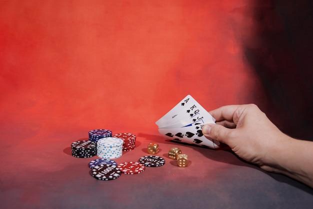 Pokerowa gra kasynowa. temat hazardu
