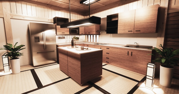 Pokój kuchenny w stylu japońskim