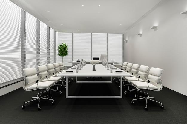 Pokój spotkań biznesowych na wysokim biurowcu