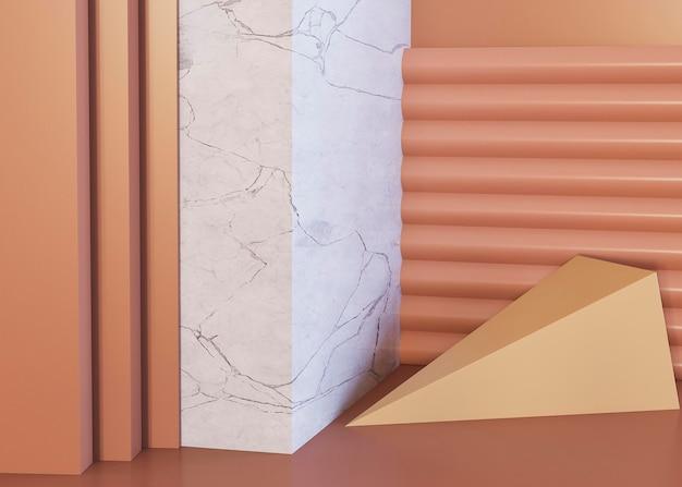 Pokój streszczenie wystrój geometryczne kształty tła