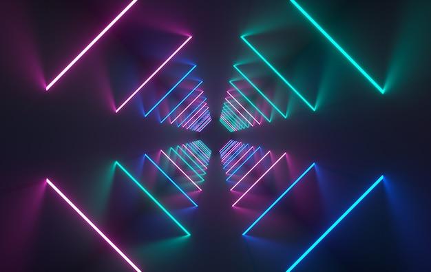 Pokój ze świecącymi neonami