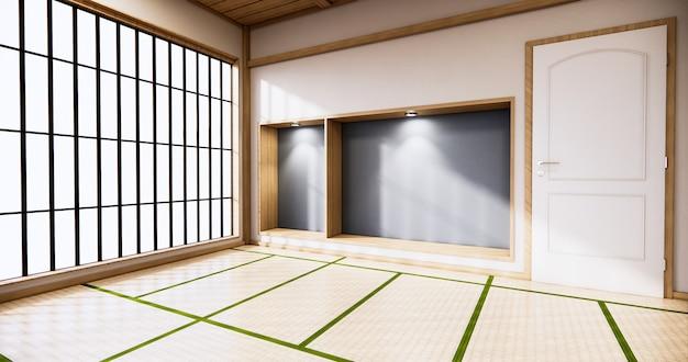 Pokój ze szklanymi ścianami w stylu japońskim