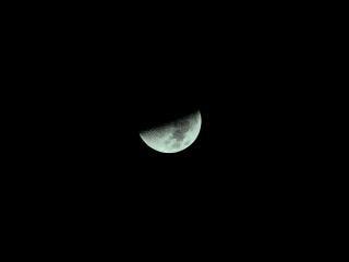 Pół księżyca 28 listopada 2006