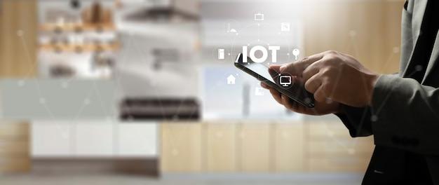 Połączenie inteligentnego domu inteligentne urządzenie technologiczne domowa automatyzacja iot house