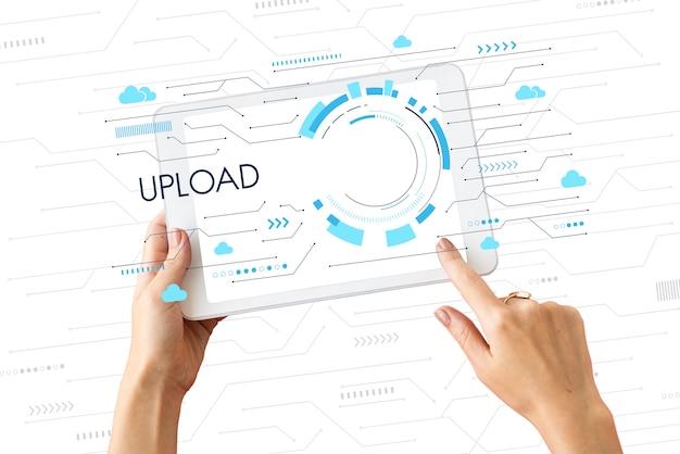 Połączenie internetowe kopii zapasowej danych