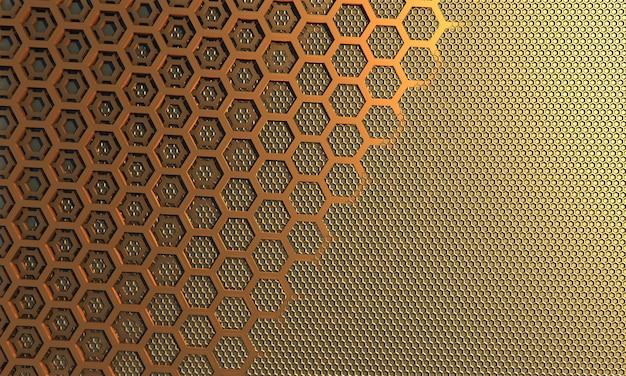 Połączone tło, pszczoły o strukturze plastra miodu małe i duże
