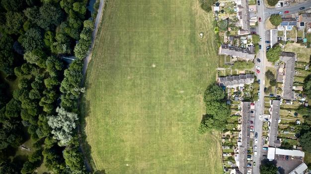 Pole trawy w ciągu dnia
