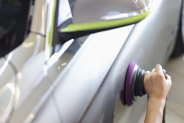 Polerka do polerowania samochodów i usuwania zarysowań myjnia i serwis samochodowy