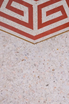 Polerowana podłoga i ściana z lastryko