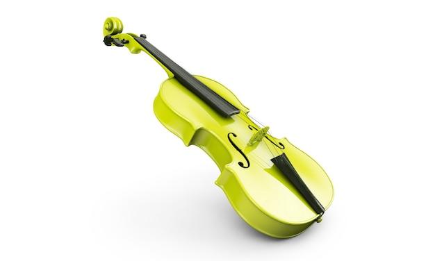 Polerowane skrzypce na tle. renderowanie 3d