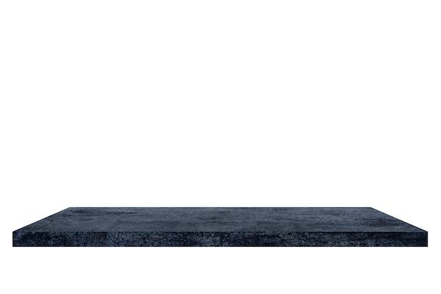 Półka cementowa na białym backgorund.