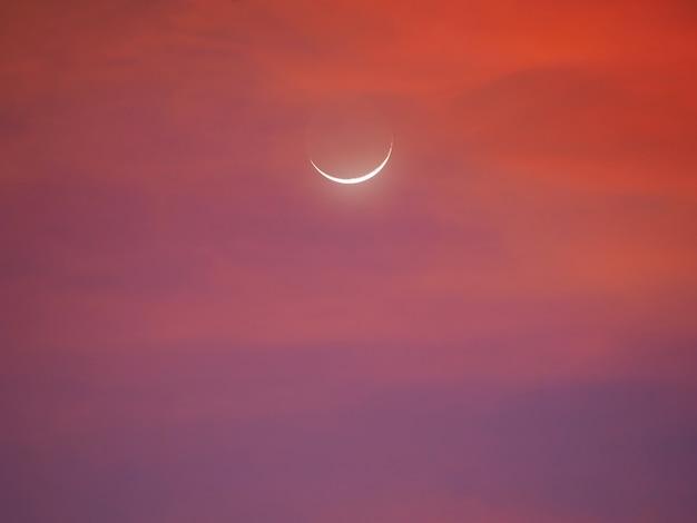 Półksiężyc wczesnym rankiem
