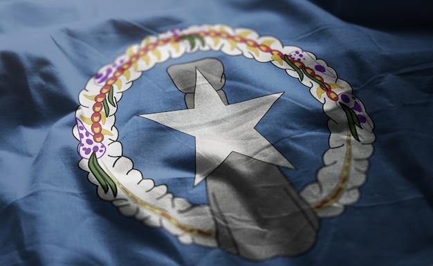 Północna mariana wyspy flaga popsutymi bliska
