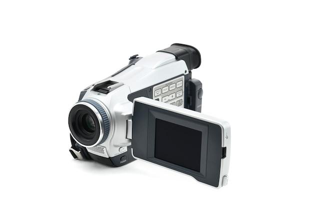 Półprofesjonalna kamera wideo używana do nagrywania klipów wideo w izolacji
