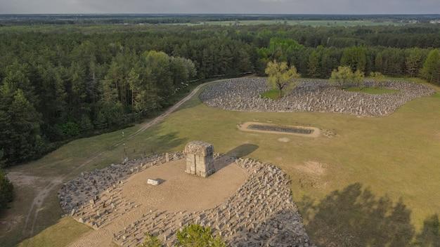 Polska, treblinka, maj 2019 - memoriał w obozie zagłady w treblince