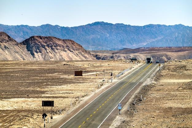 Południowo-panamerykańska autostrada w nazca w peru