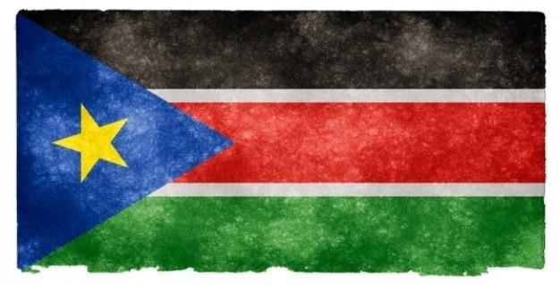 Południowy sudan grunge flag