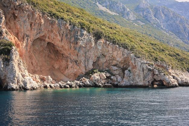 Półwysep athos, grecja. widok z promu.