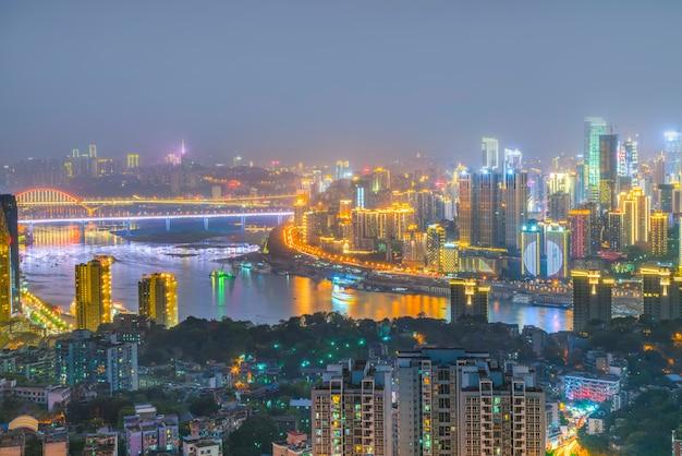 Półwysep malownicze niebo architektury chongqing mostu