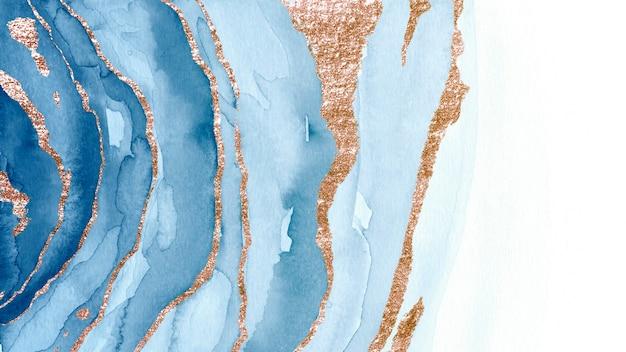 Połyskująca niebieska farba teksturowana w tle