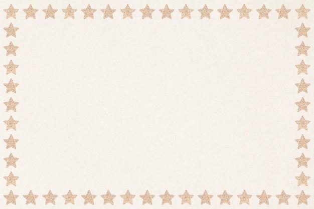 Połyskująca złota gwiazda zasób projektu ramki