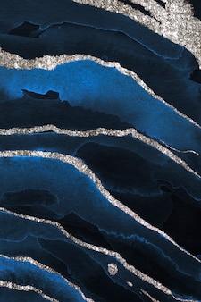 Połyskujące ciemnoniebieskie tło akwareli
