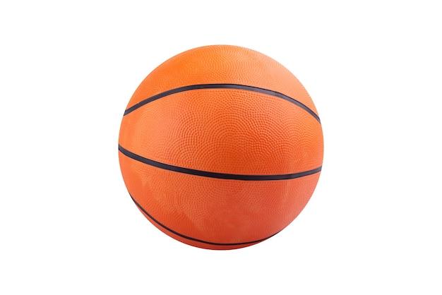 Pomarańczowa koszykówka na białym tle