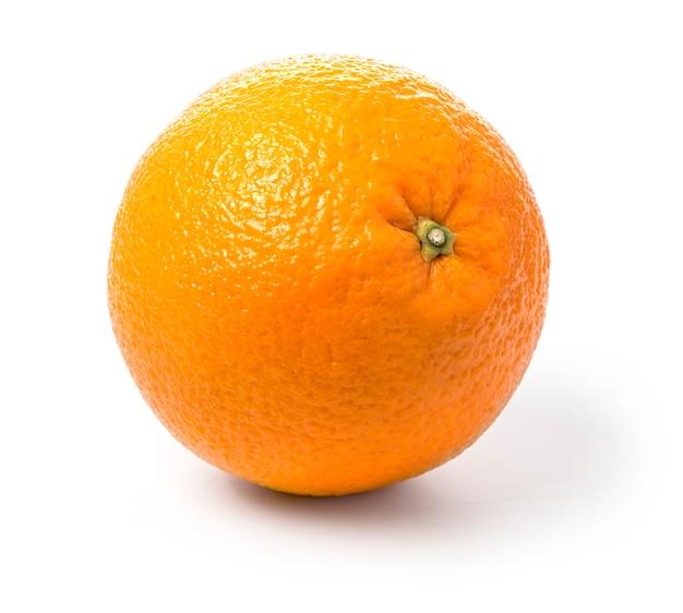 Pomarańczowa owoc na bielu
