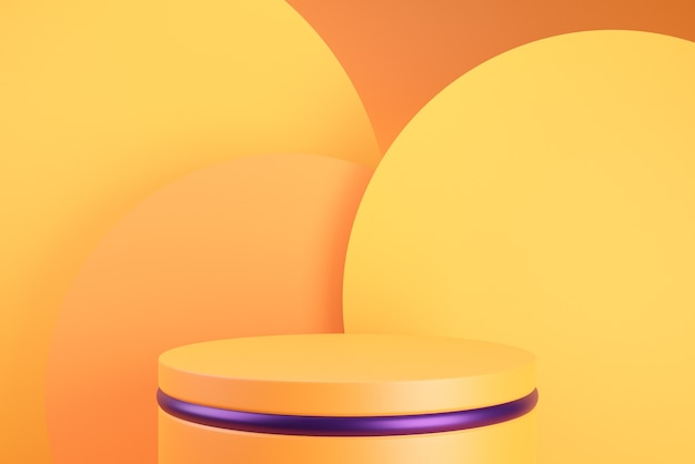 Pomarańczowe tło podium na halloween.